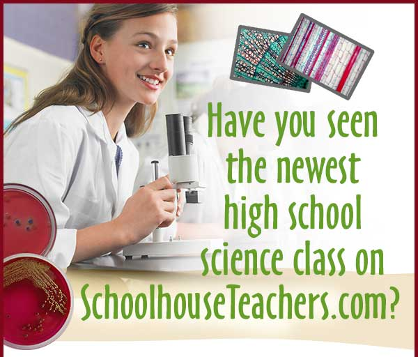 Have you seen the newest high school science class on SchoolhouseTeachers.com?