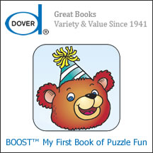 Dover's Boost: My First Book of Puzzle Fun App