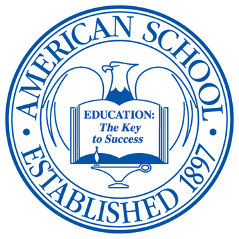 logo for American School, established in 1897, and motto Education: the Key to Success
