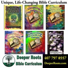 assorted cover images for Deeper Roots bible curriculum