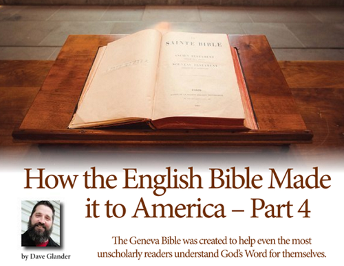 How the English Bible Made it to America - Part 4
