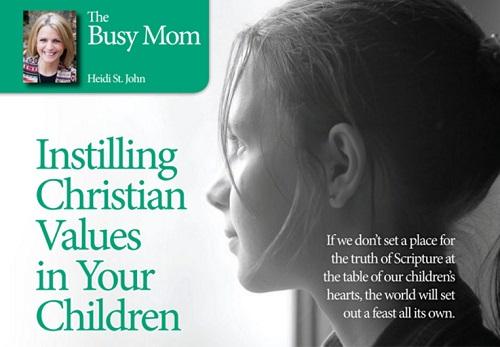 Instilling Christian Values in Your Children