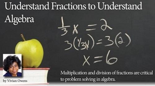 Understand Fractions to Understand Algebra