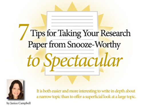 7 Tips for Taking Your Research Paper from Snooze-Worthy to Spectacular