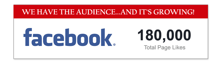 Over 180,000 Facebook Likes!